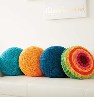 Full Circle Pillows and Color Wheel Pillows