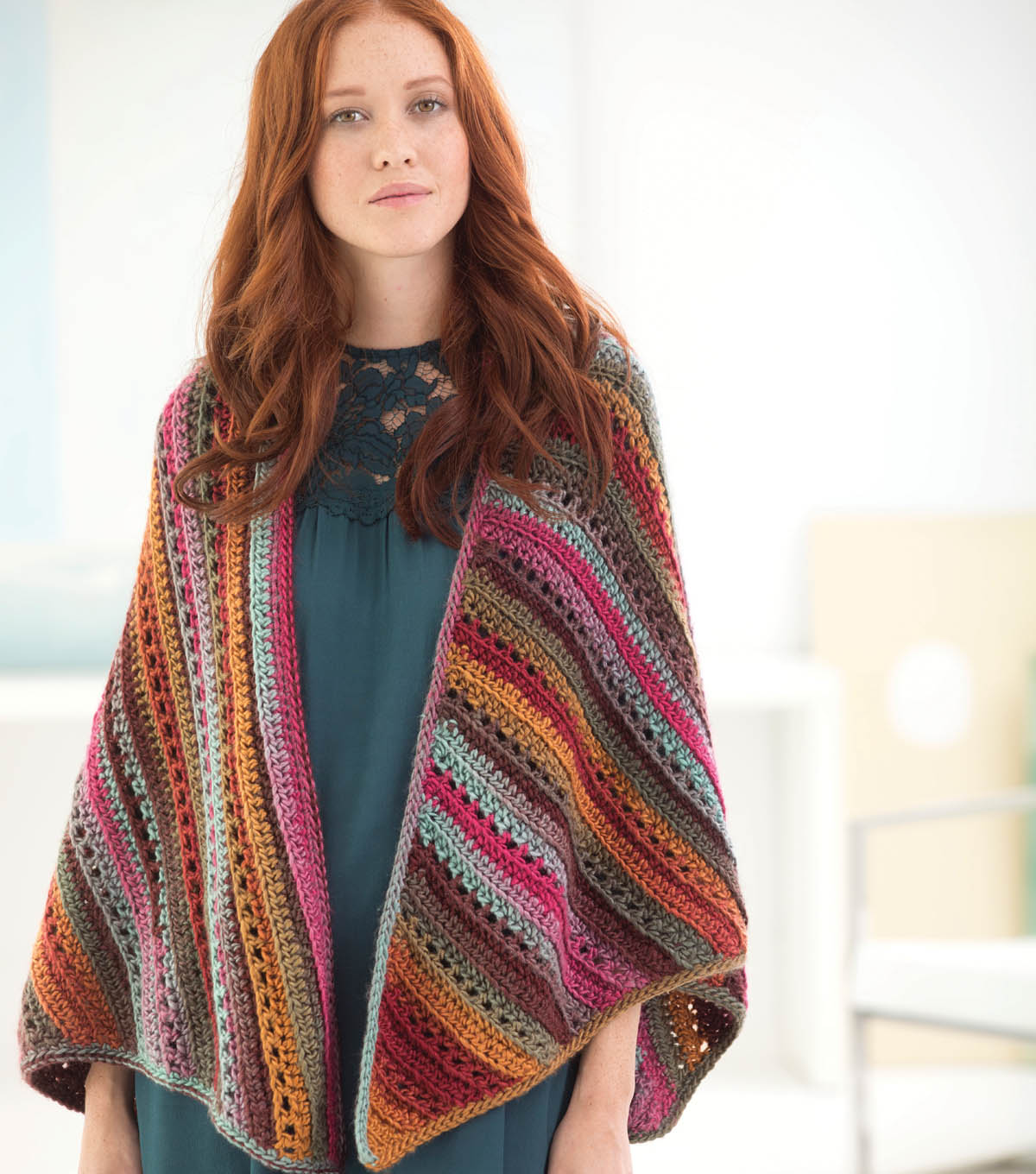 Striated Triangles Shawl