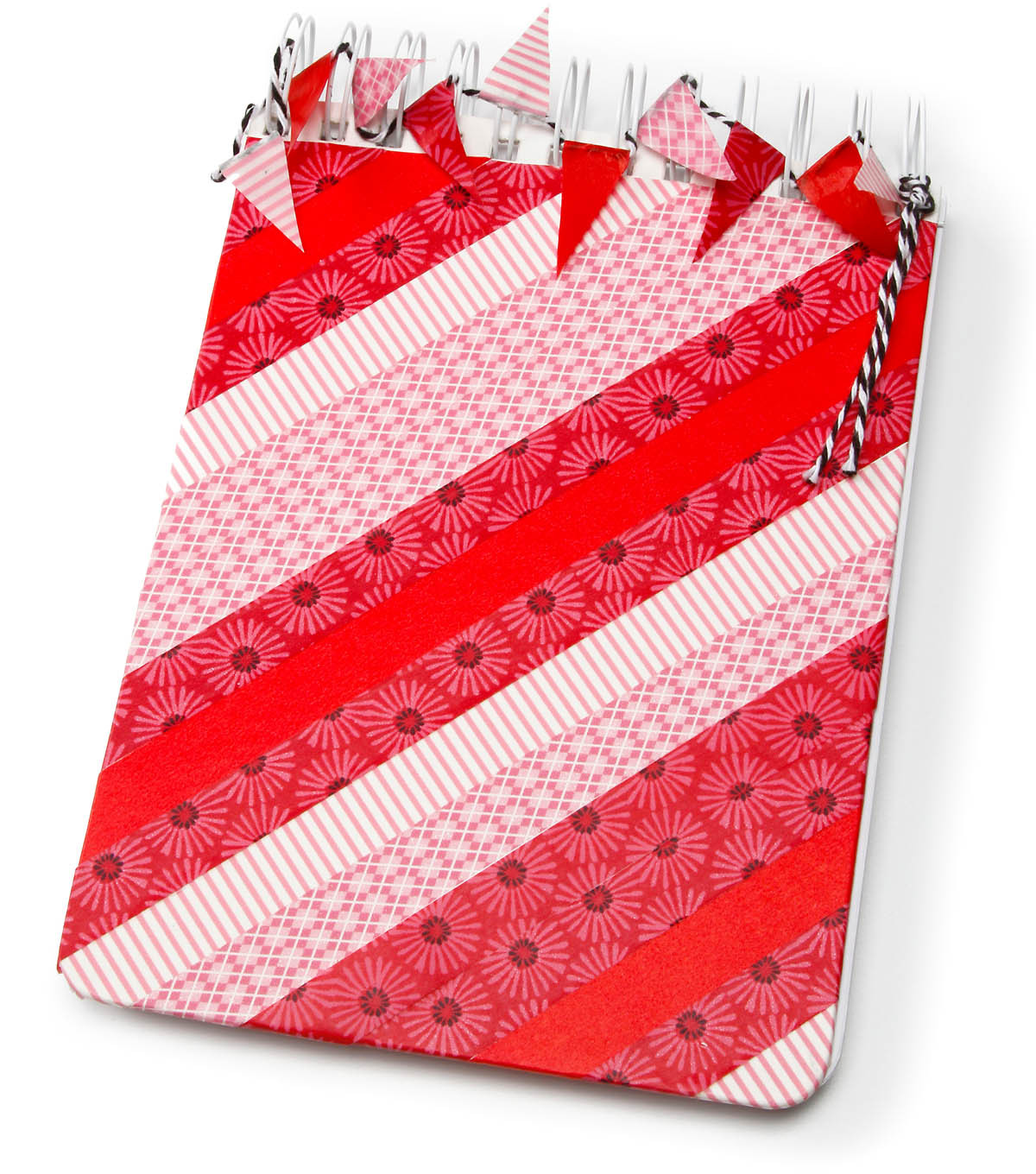 Washi covered Scrapbook with Bunting