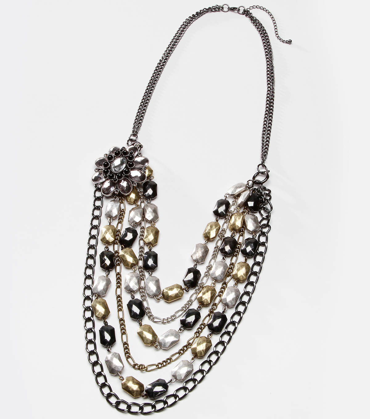 Tori spelling Noir Mixed Metal Necklace