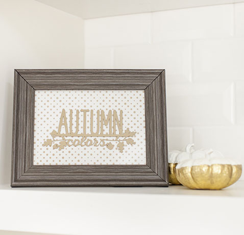 How To Make Autumn Colors Framed Art