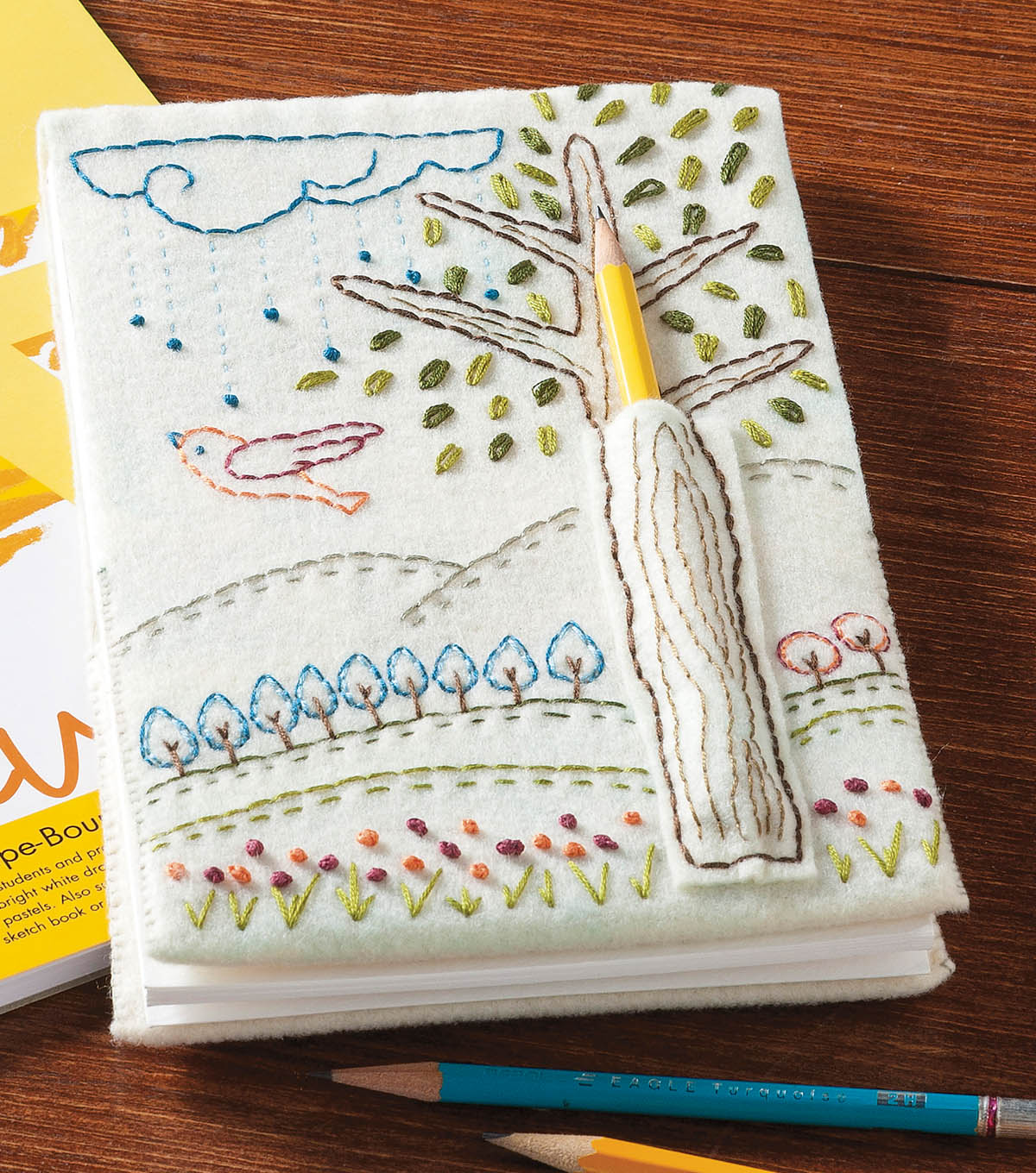 Embroidered Doodle Notebook