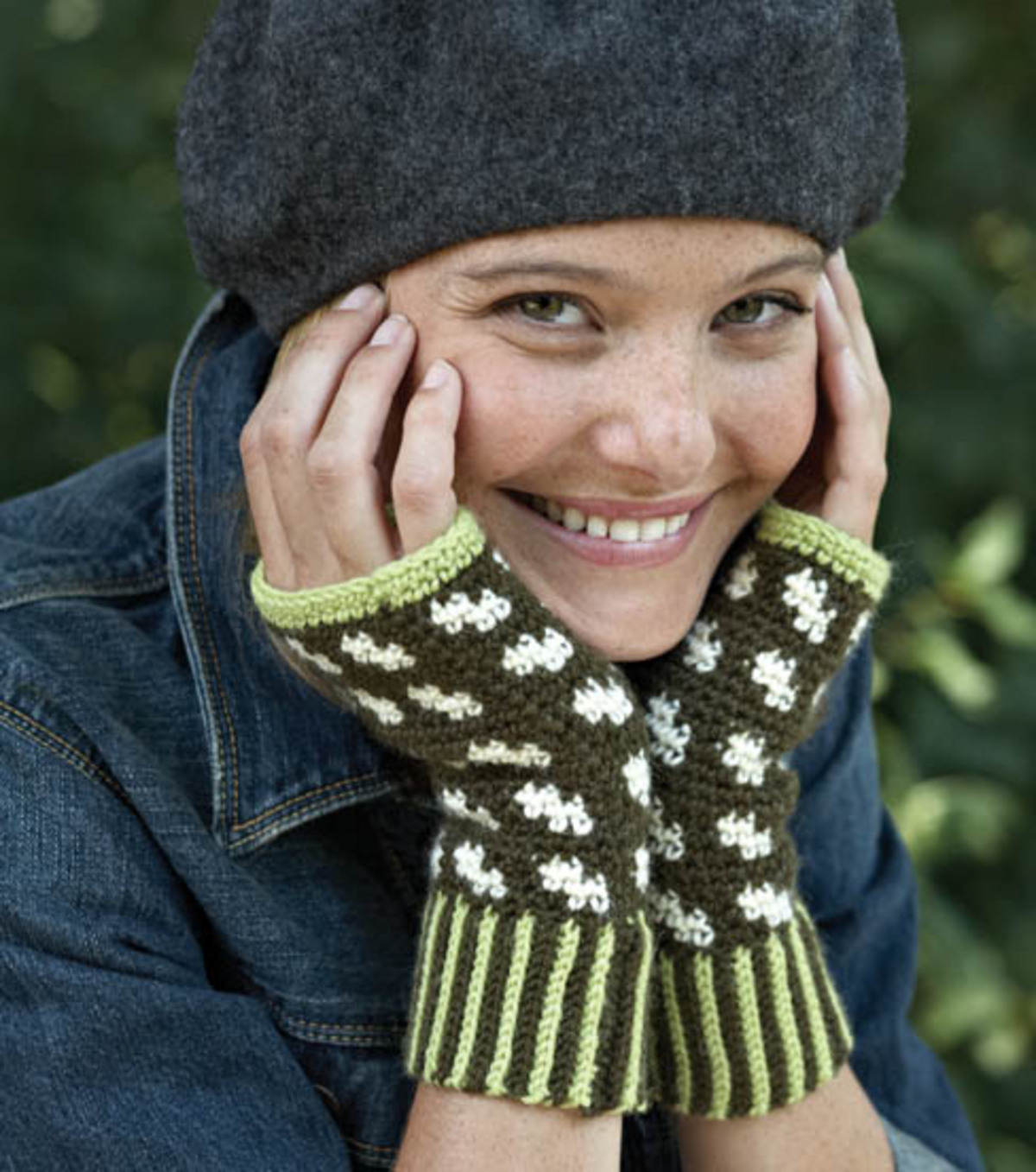 Fairisle Fingerless Mitts