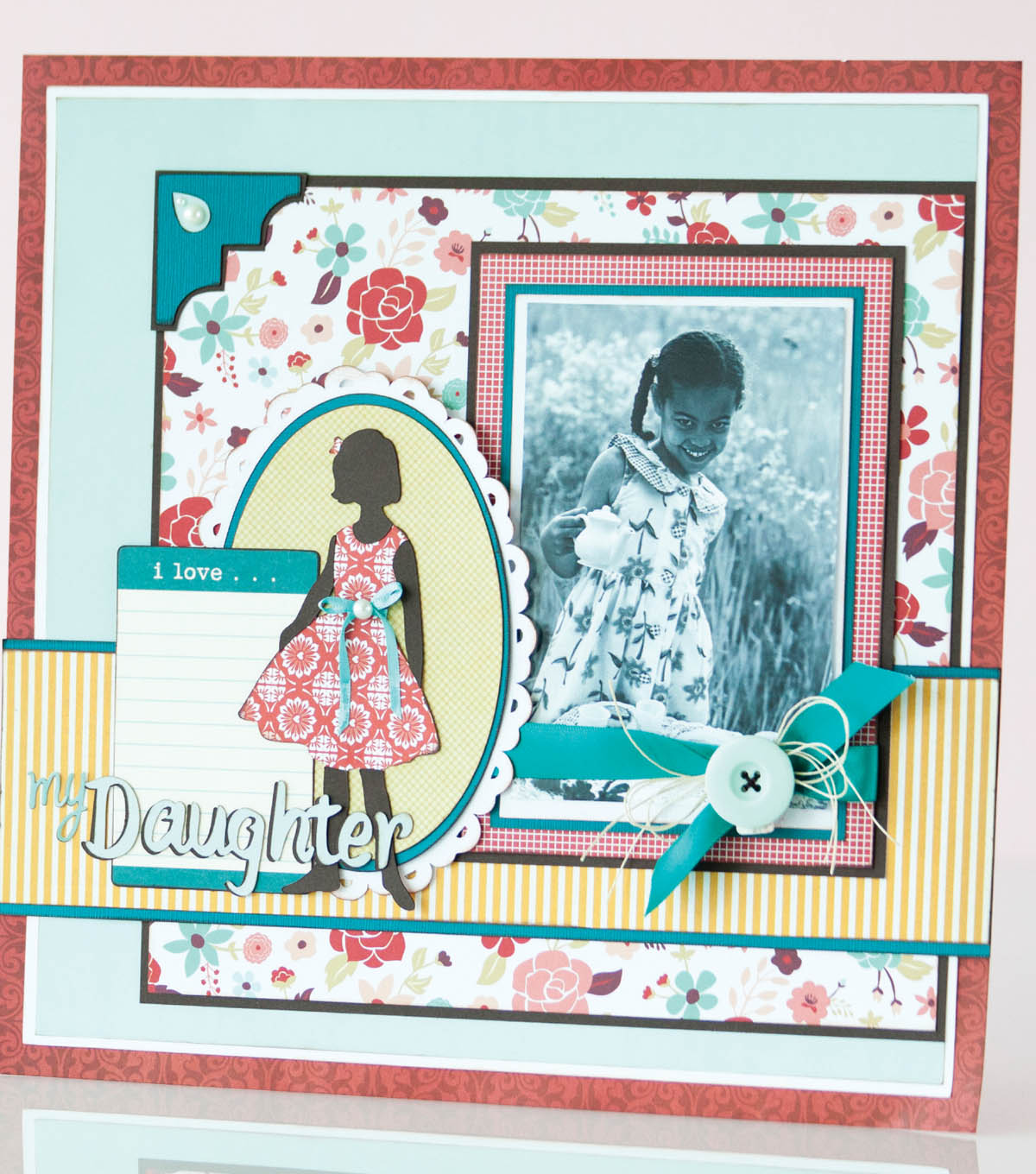 My Daughter Scrapbook Layout