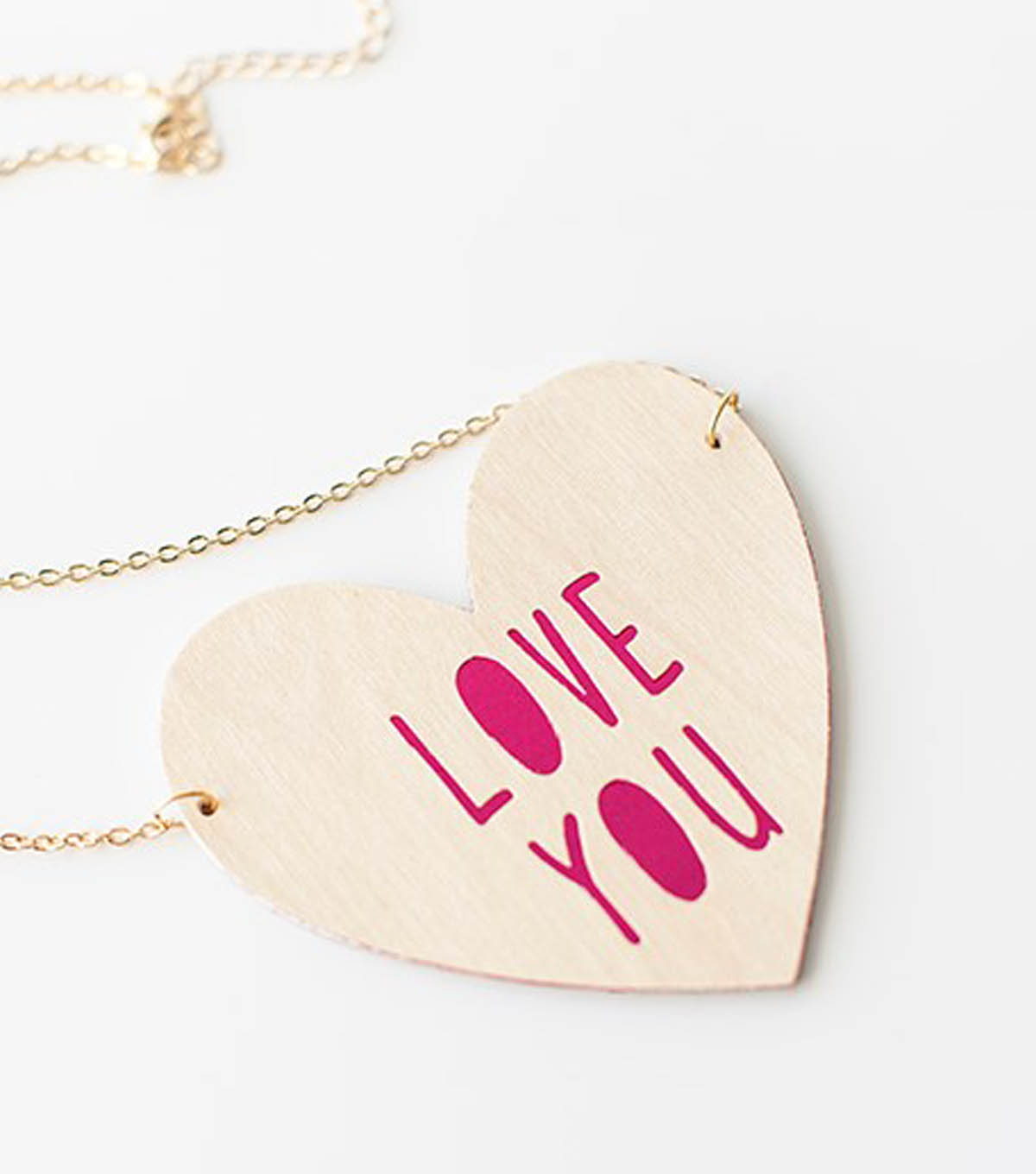 Wooden Love You Necklace