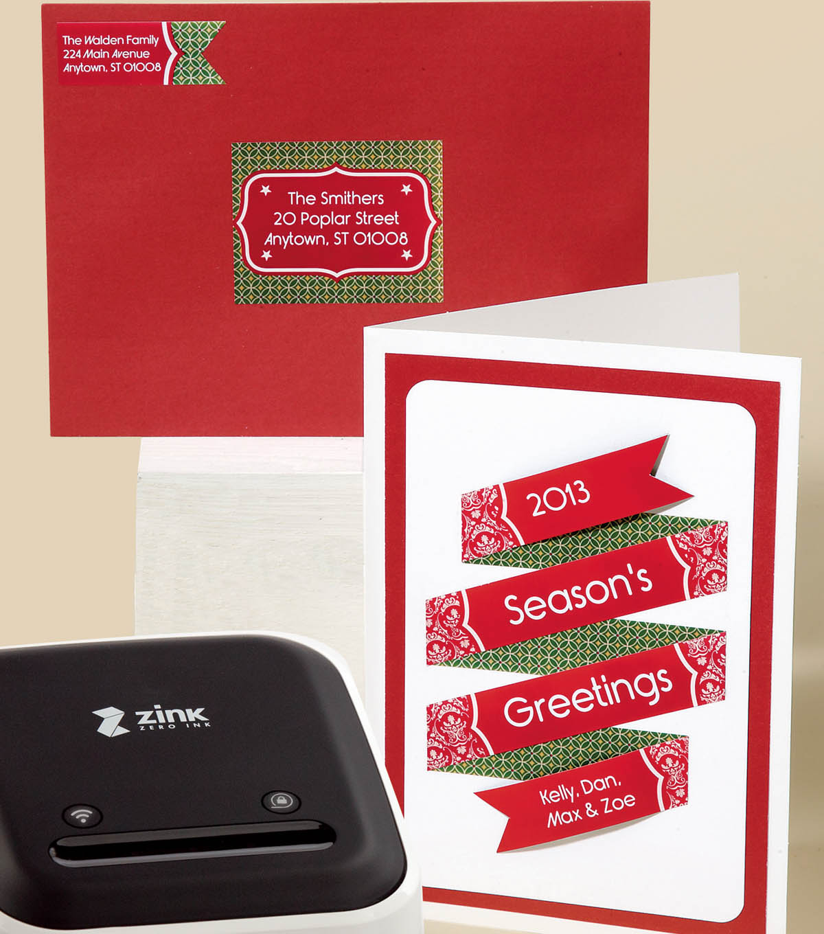 Zink Seasons Greeting Card