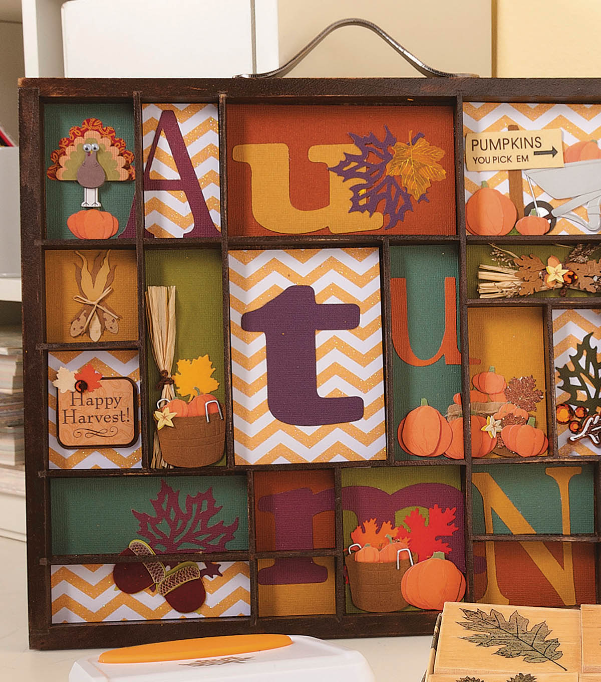 Fall Themed Letter Box
