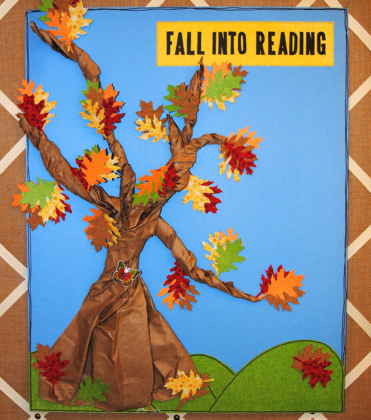 Fall Into Reading Bulletin Board Decor