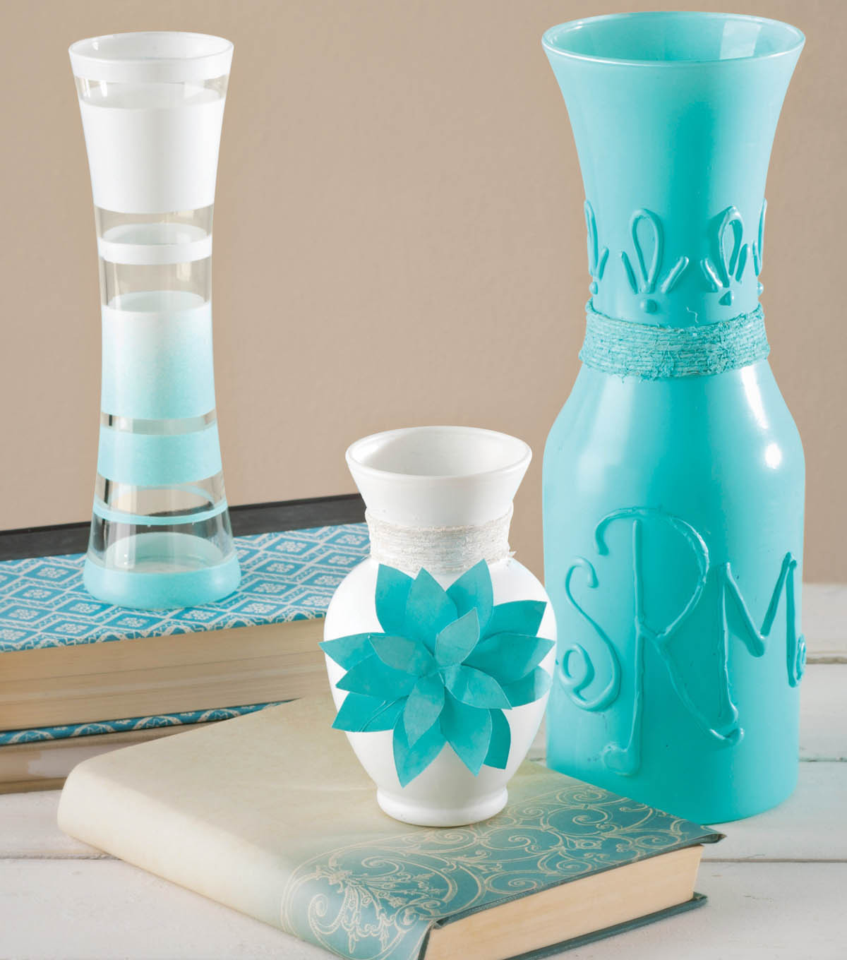 Paint and Embellished Vases