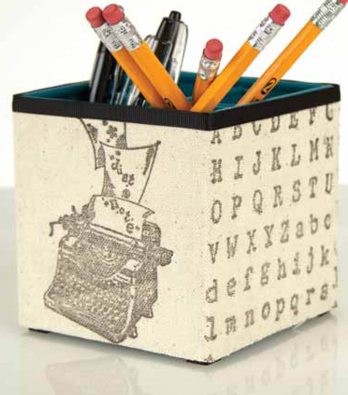 Burlap Covered Pencil Holder
