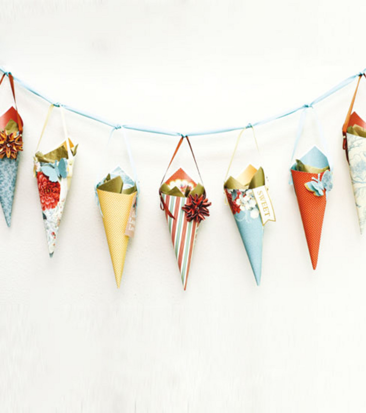 Coral Couture Cone Garland