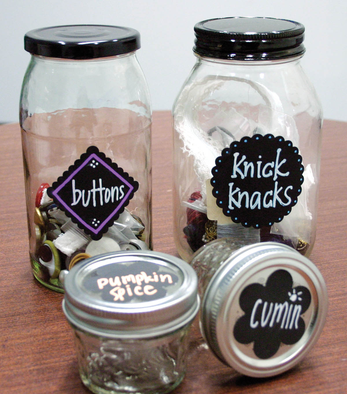 Chalk Paper Jar Label