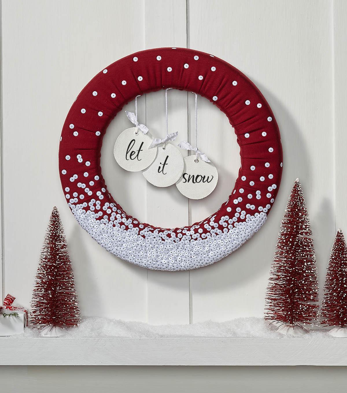 Bon Make A \u0022Let It Snow\u0022 Wreath