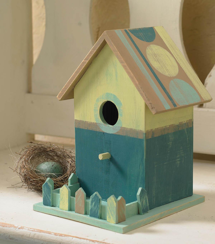 How to make a bird house - How To Make A Folkart Milk Paint Birdhouse