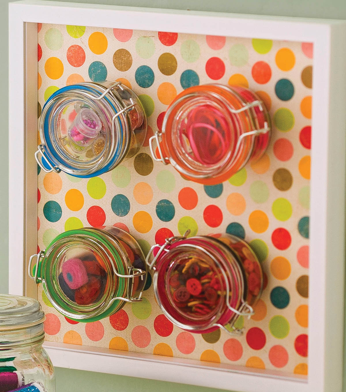 Magnetic Jars Storage Board