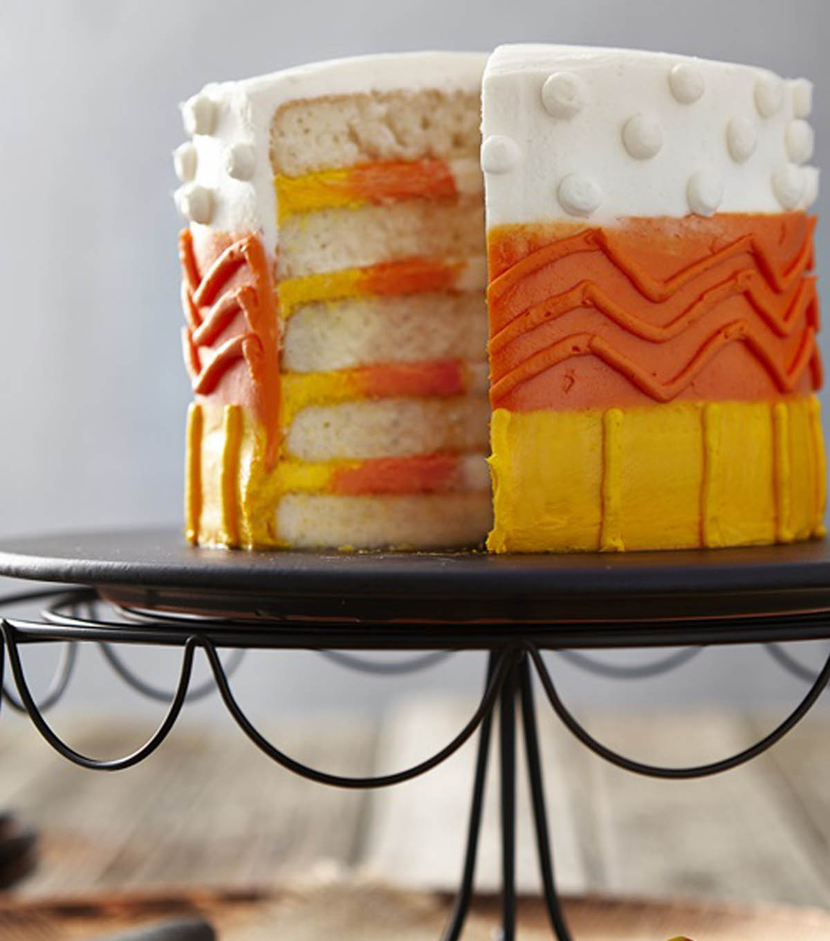 Color It Candy Corn Cake