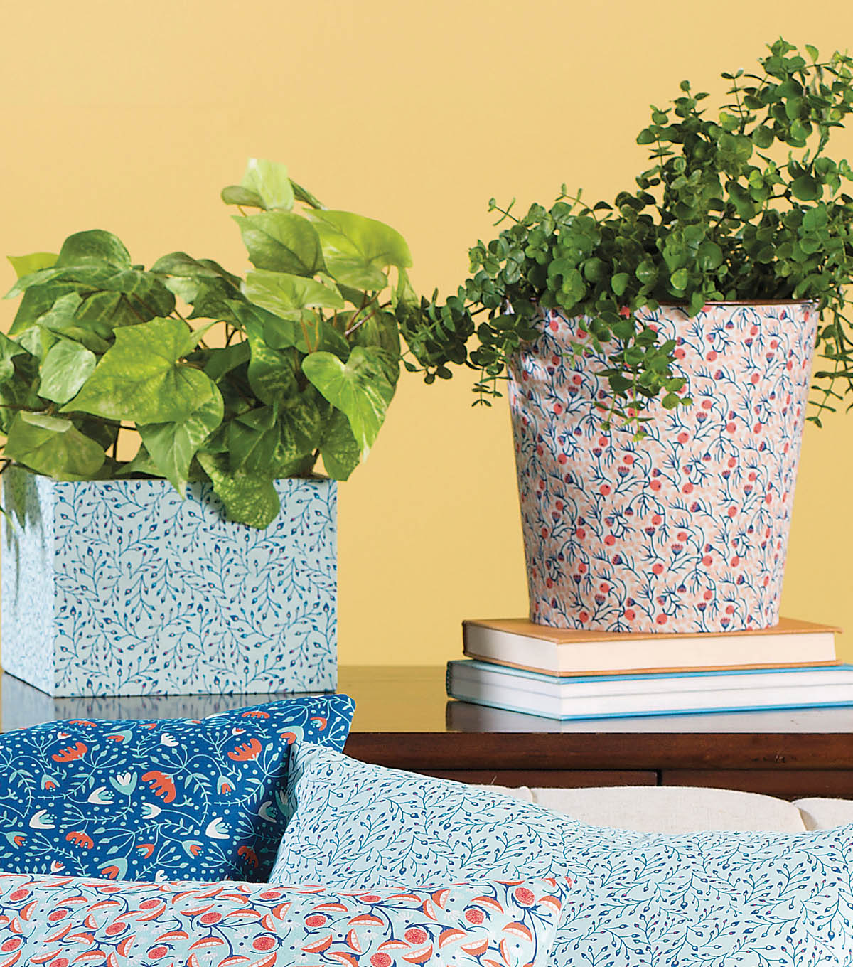 Fabric Covered Planters