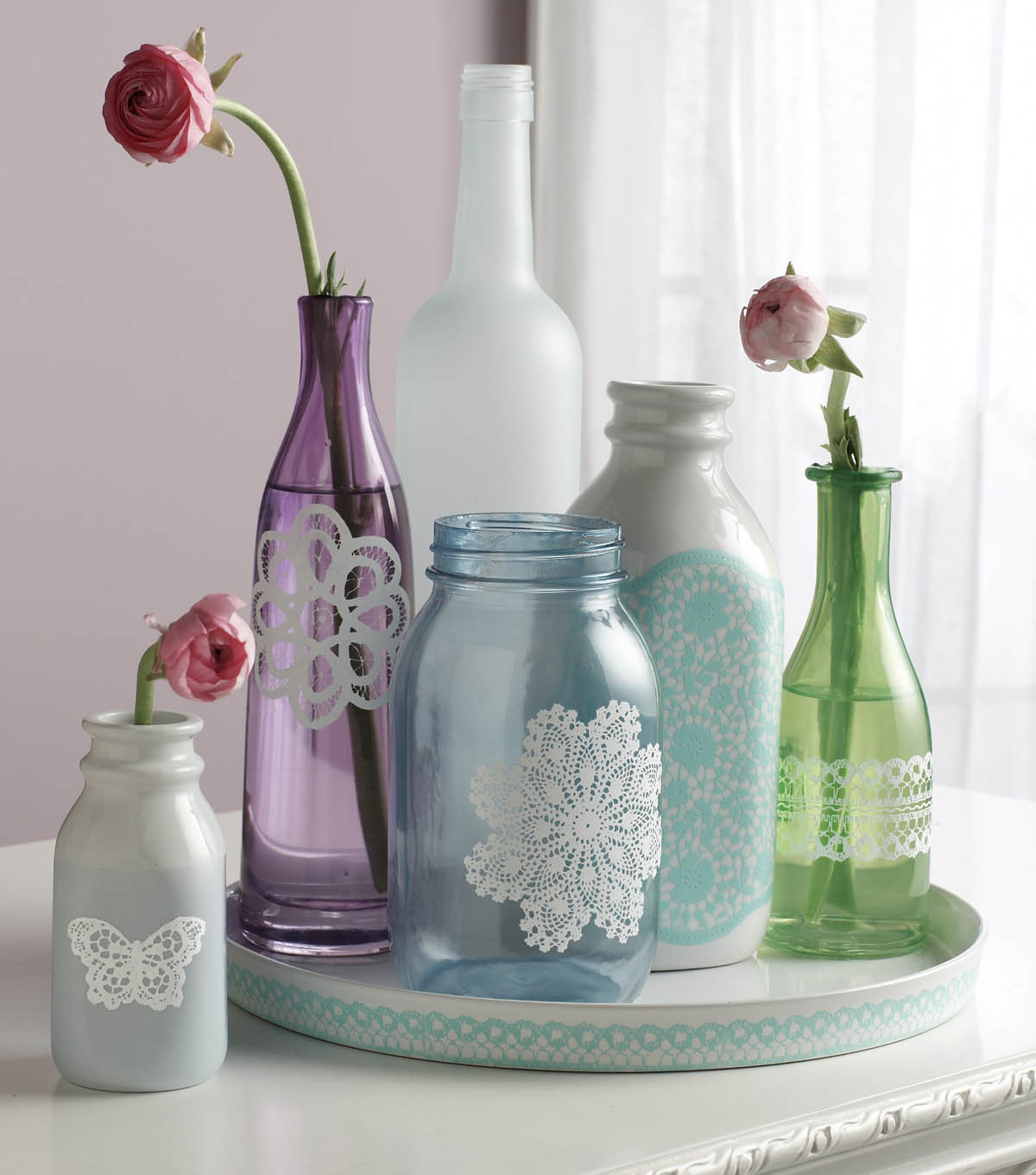 Doily Lace Bottle Set, Martha Stewart