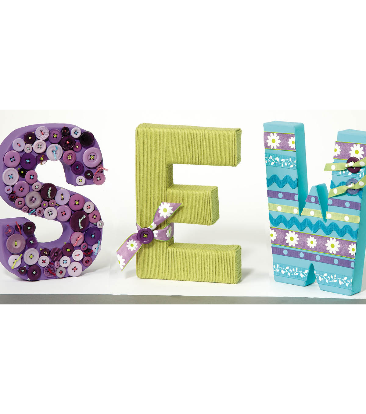 Sew Decorated Letters