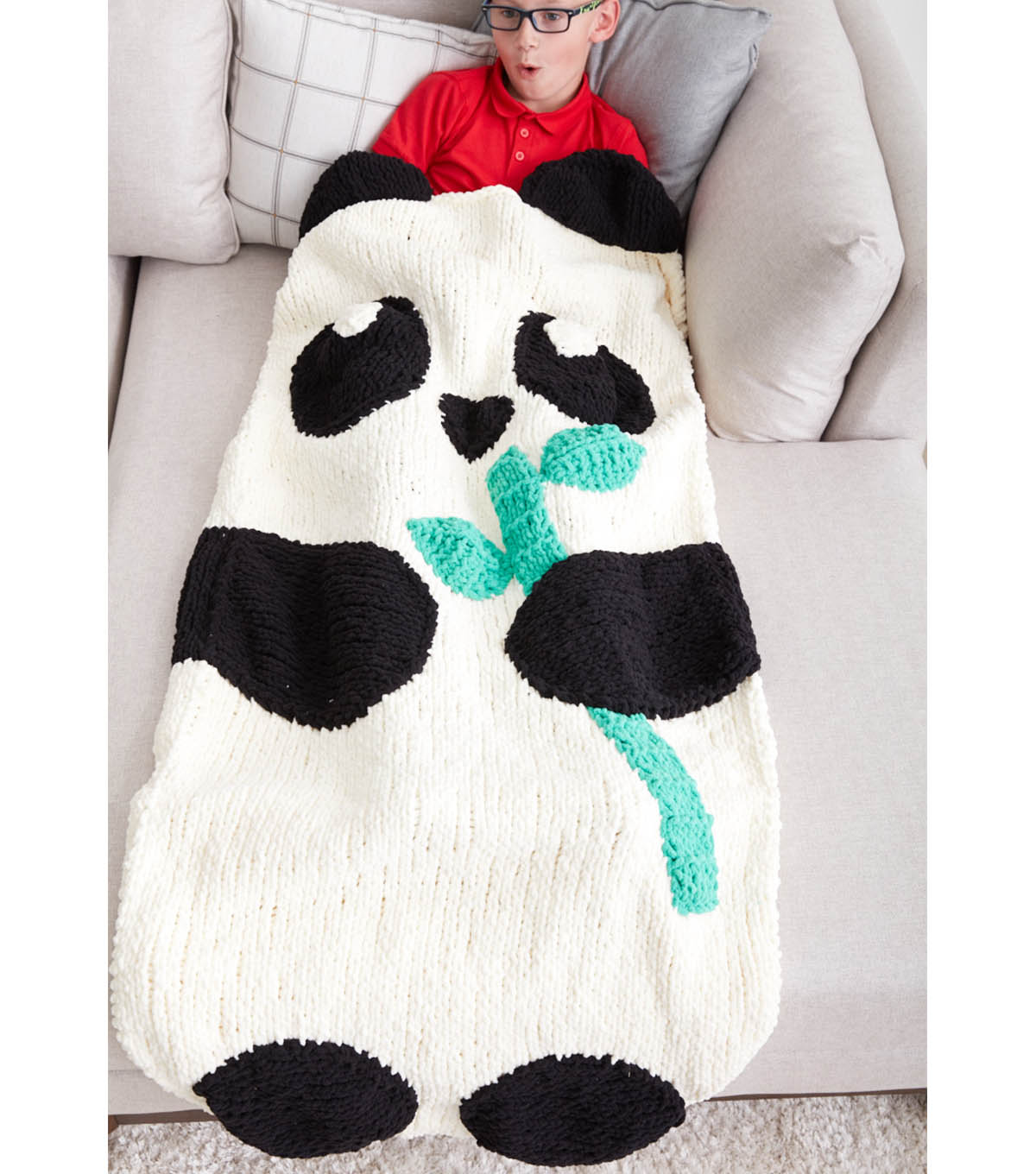 How to make a knit panda bear snuggle sack joann how to make a knit panda bear snuggle sack bankloansurffo Images