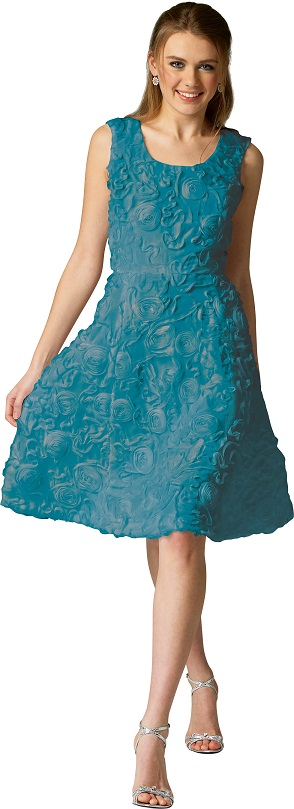 Make it your own: Teal Chiffon Dress