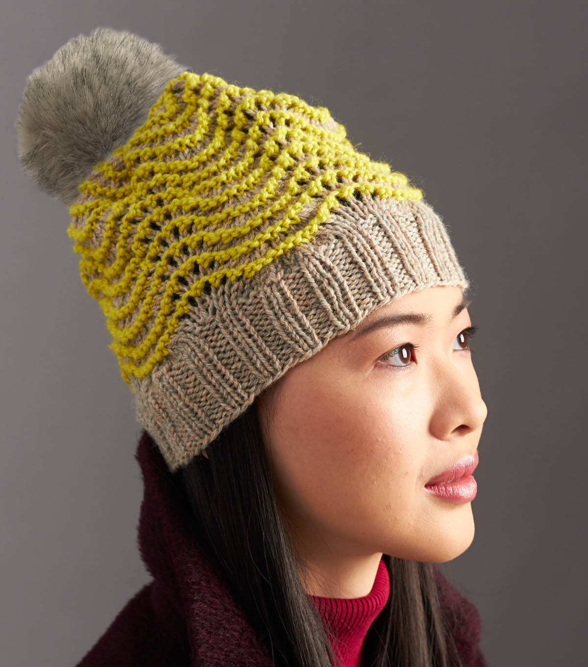 Wool Worsted Ripple Hat