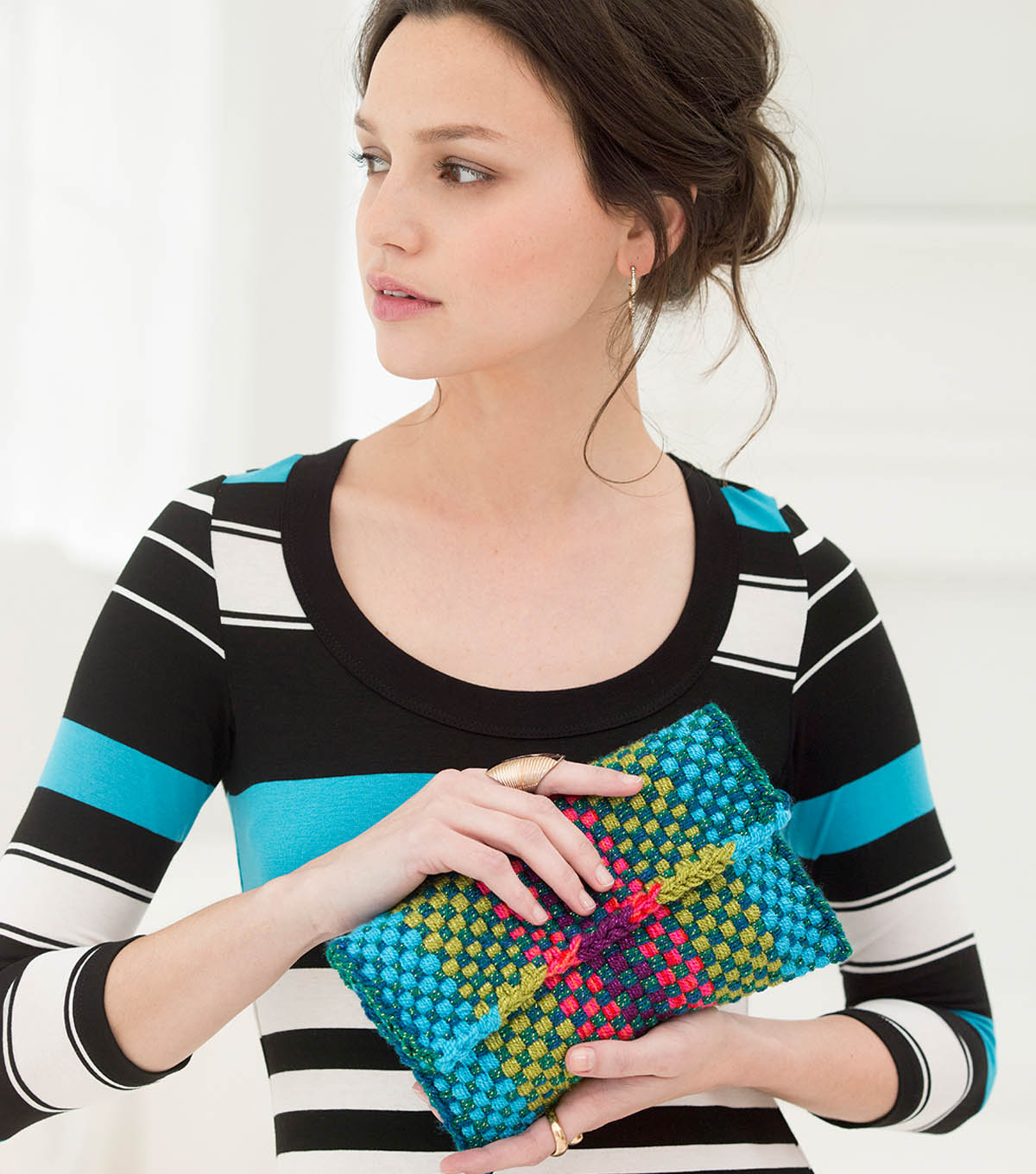 Loom Woven Simple Clutch