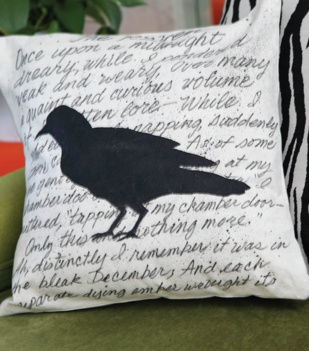 Haunted Silhouette Pillow