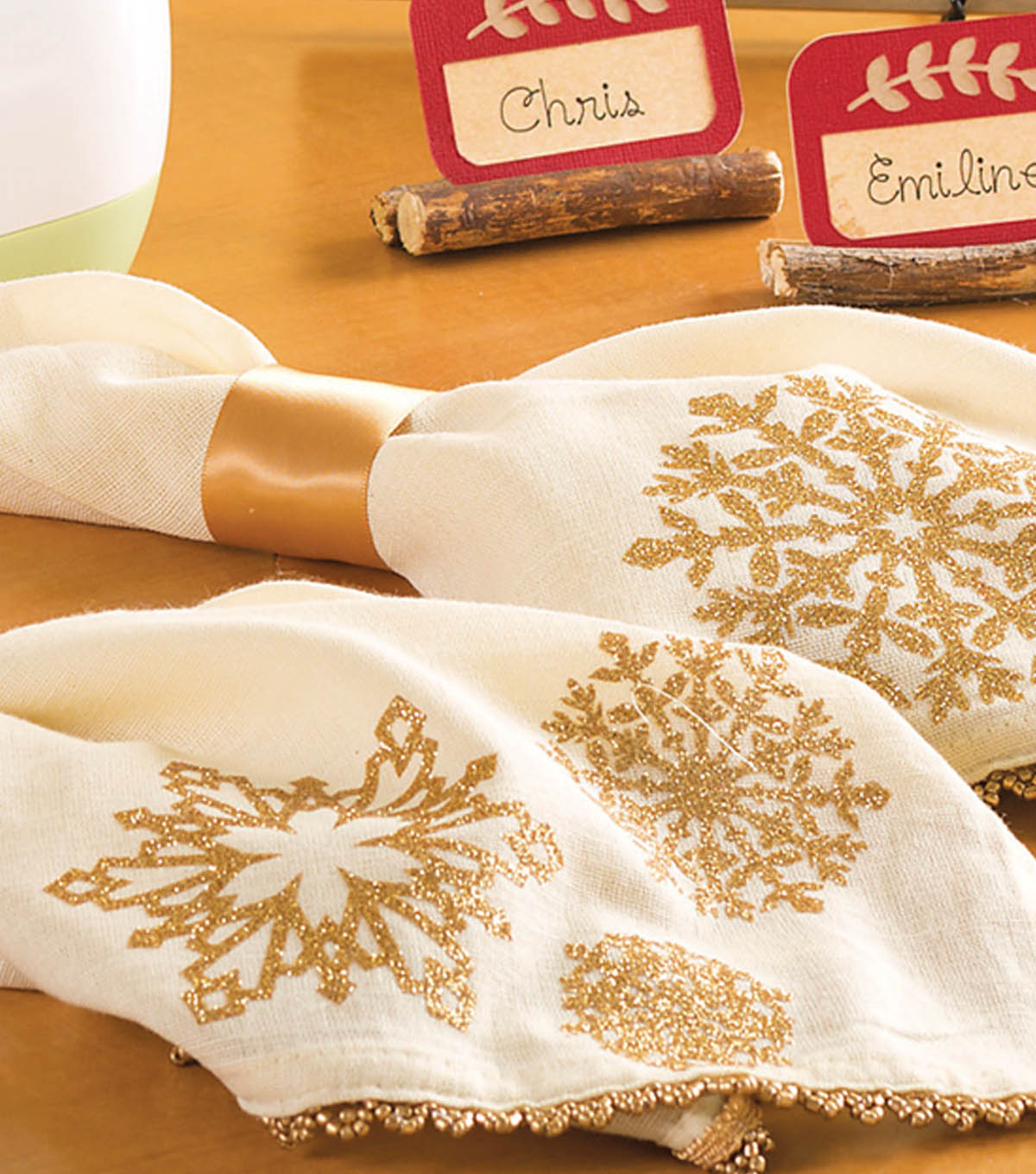 Fancy Snowflake Napkins