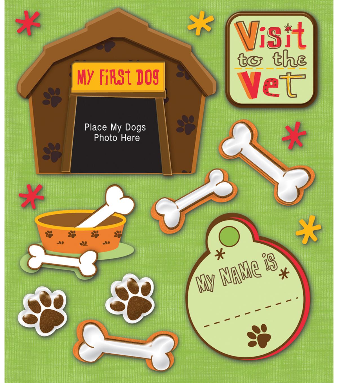 Sticker Medley-Pet Firsts-Dog