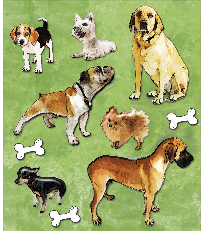 Sticker Medley-Variety Of Dogs