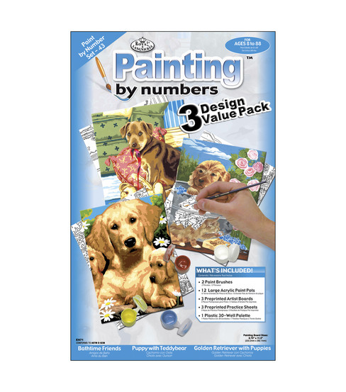 1-1/2''x8-3/4'' Paint By Number Packs-3PK/Dogs