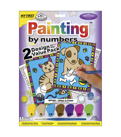 Paint By Number Value Kits-2PK/Kitten & Puppy