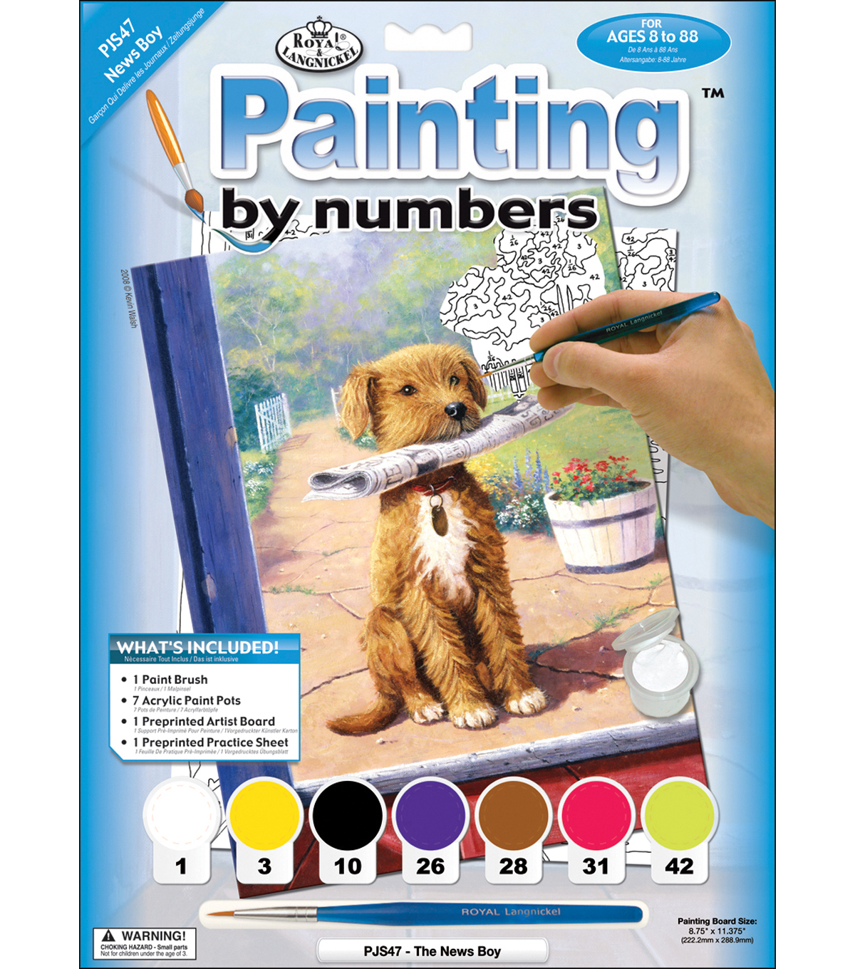 Royal Langnickel Junior Paint By Number Kit The News Boy