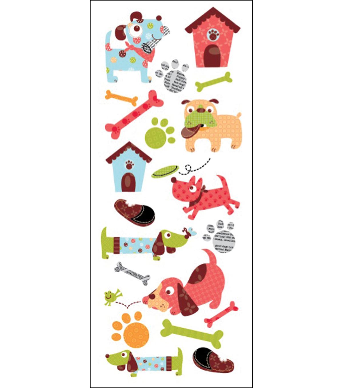 EK Success Classic Puffy Stickers-A Dog's Life
