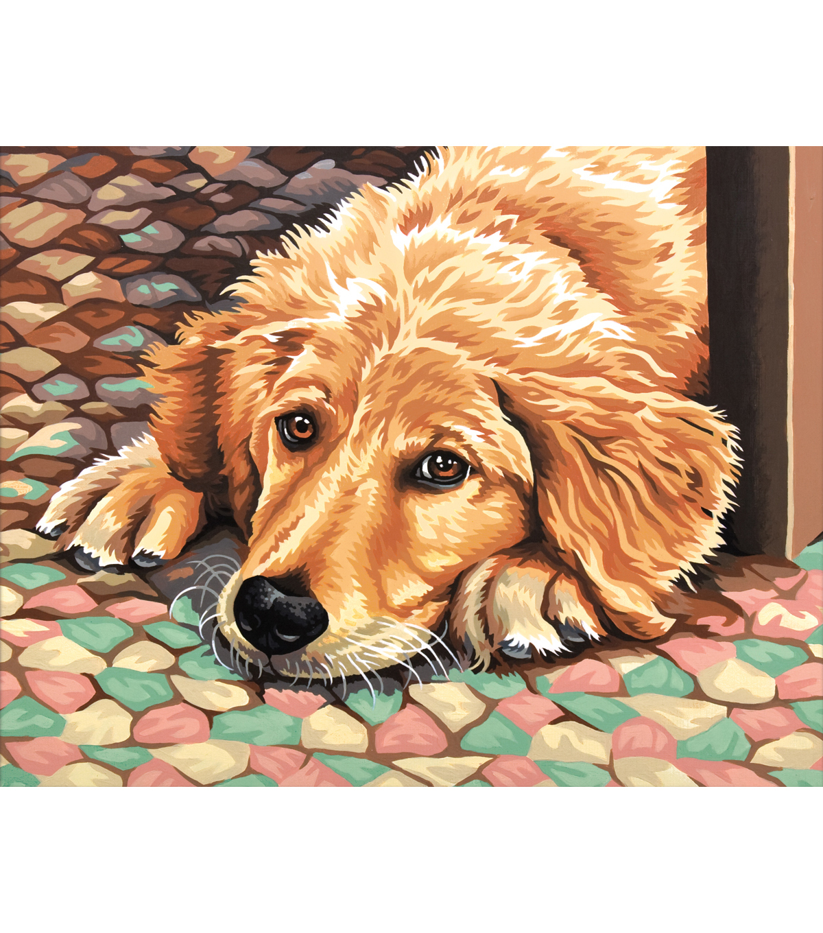 Paint By Number Kit-Dog Tired