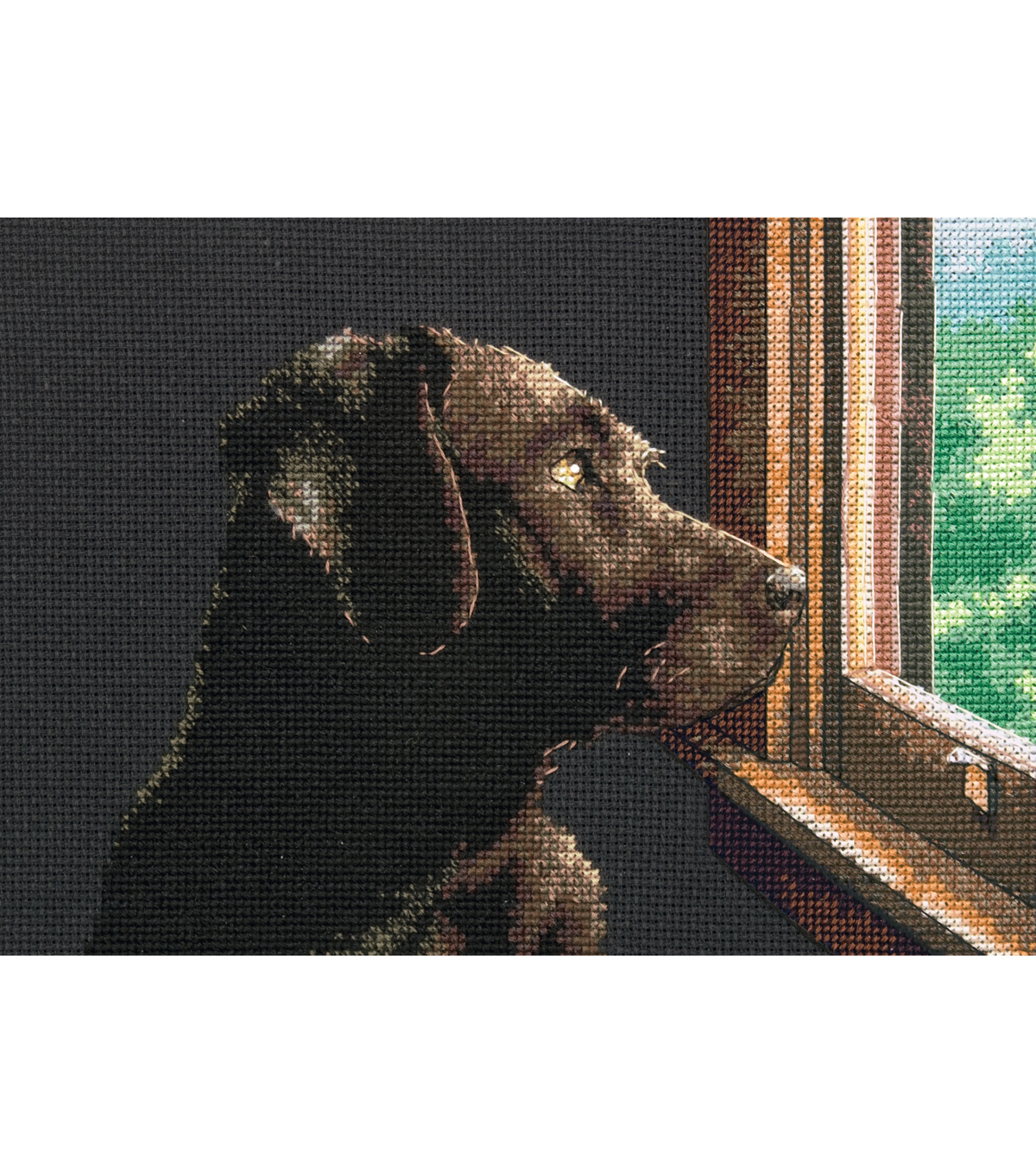 "Petite Pondering Pup Counted X-Stitch Ki-7""X 5"""