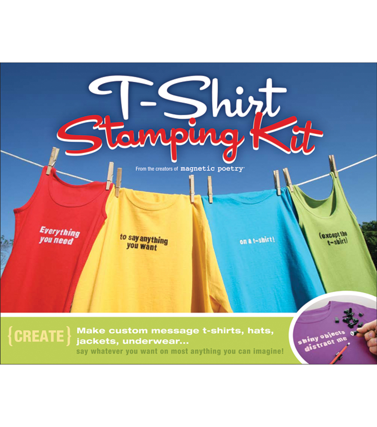 Magnetic Poetry T-Shirt Stamping Kit