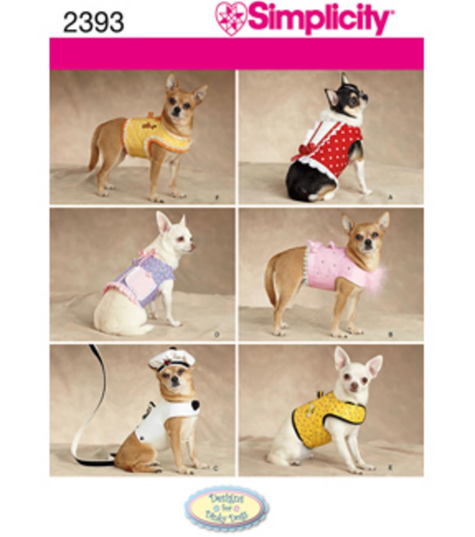 Simplicity Pattern 2393-Craft Dog Coats-Xxs-Xs-S-M