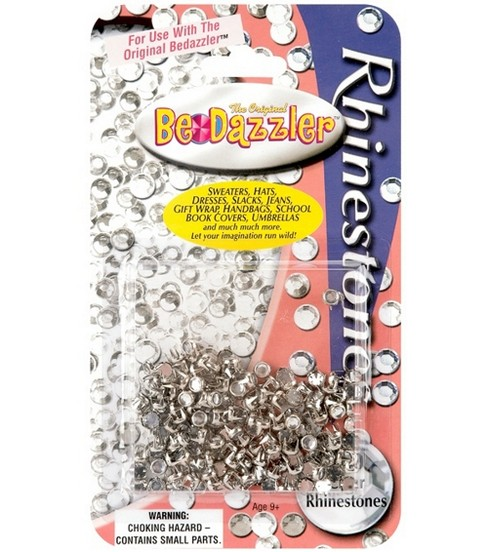 The Original BeDazzler Rhinestone Refills 150/Pkg-Clear