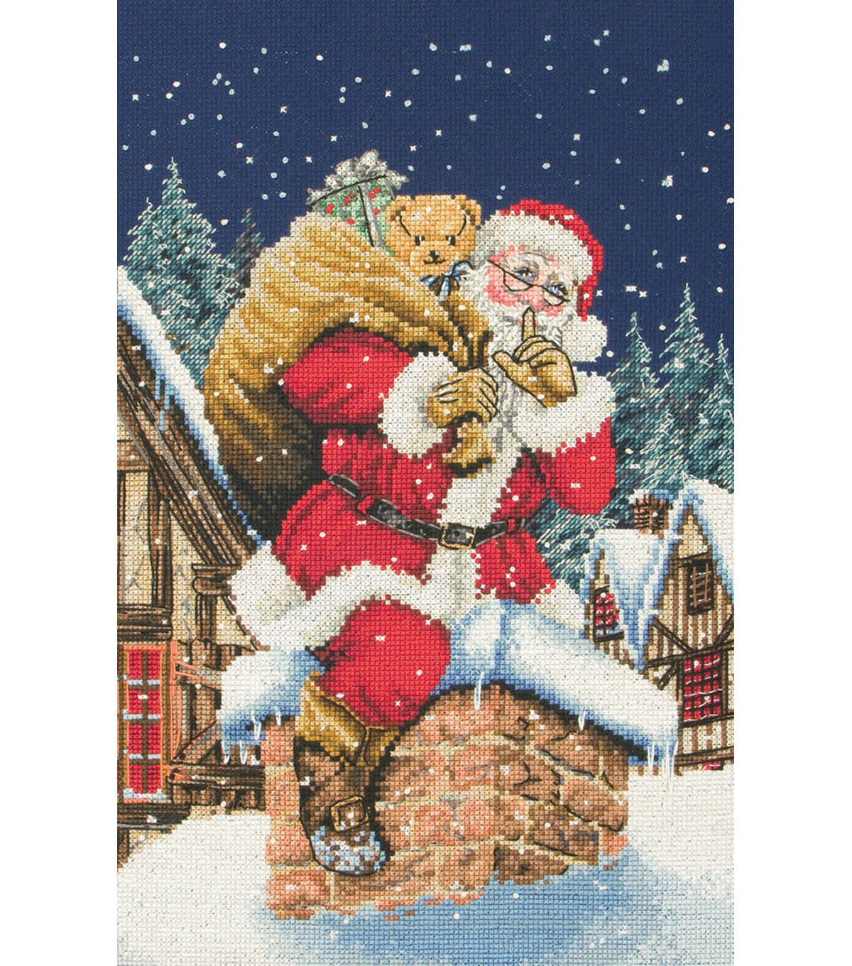 Anchor Counted Cross Stitch Kit Father Christmas Shhh…