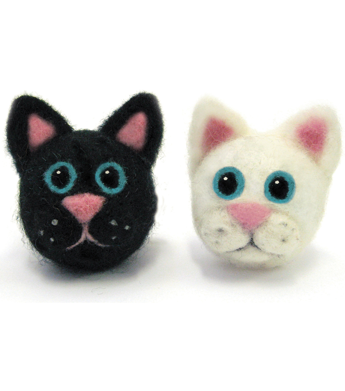 Feltworks Ball Cats Learn Needle Felting Kit-