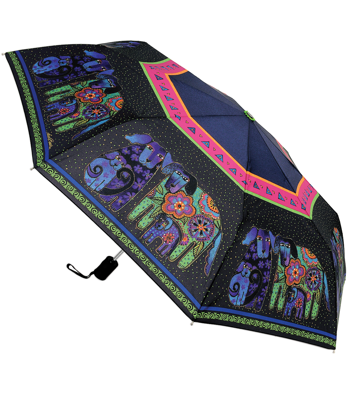 Laurel Burch Compact Umbrella-Dog & Doggies