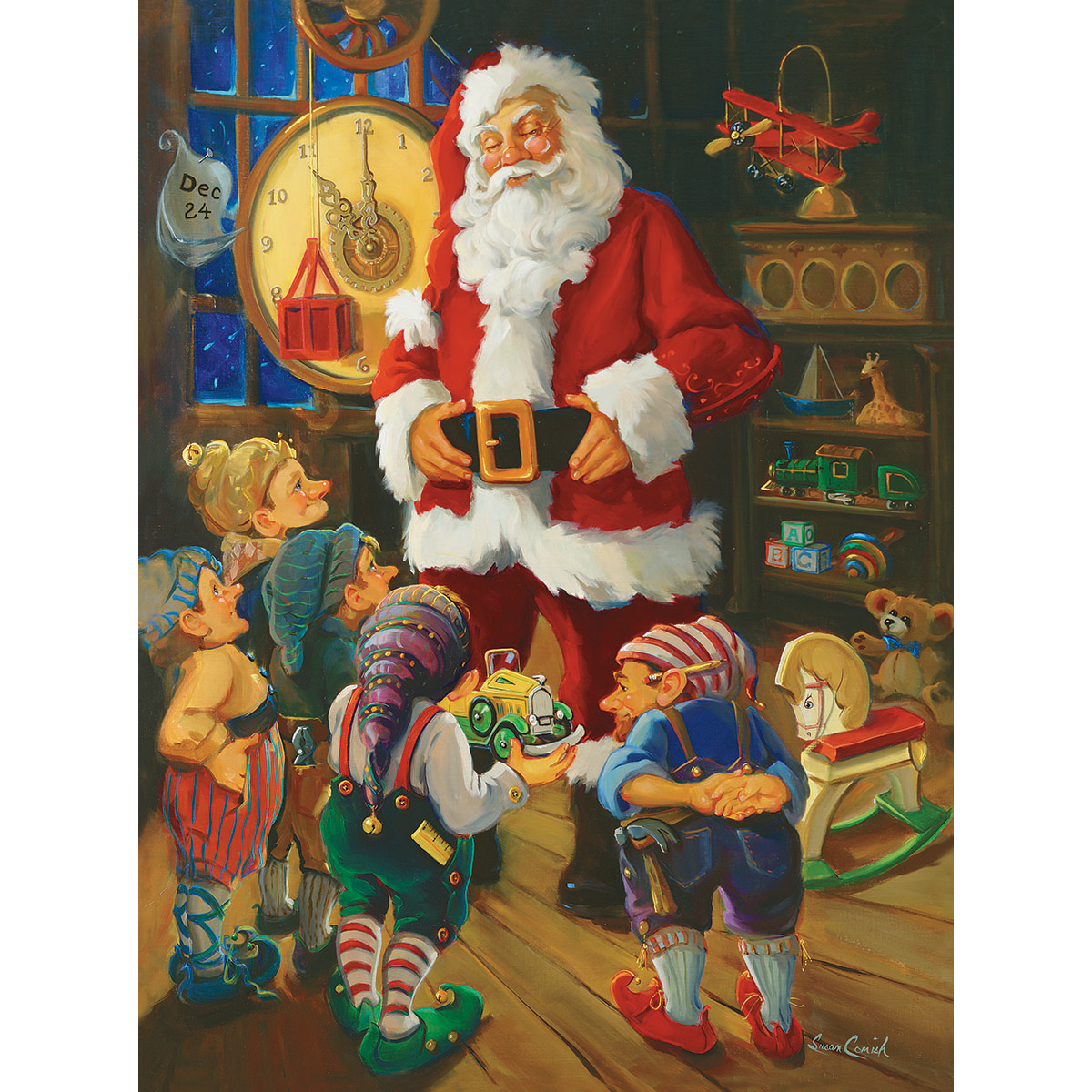 White Mountain Puzzles Jigsaw Puzzle Santa & His Elves