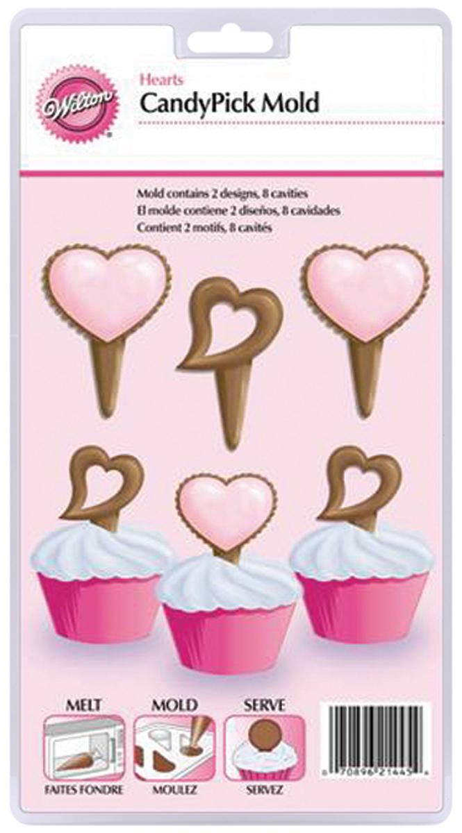 Valentine Hearts Candy Pick Mold-8 Cavity