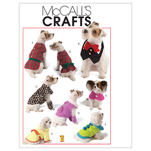 Pet Clothes-All Sizes in One Envelope Pattern