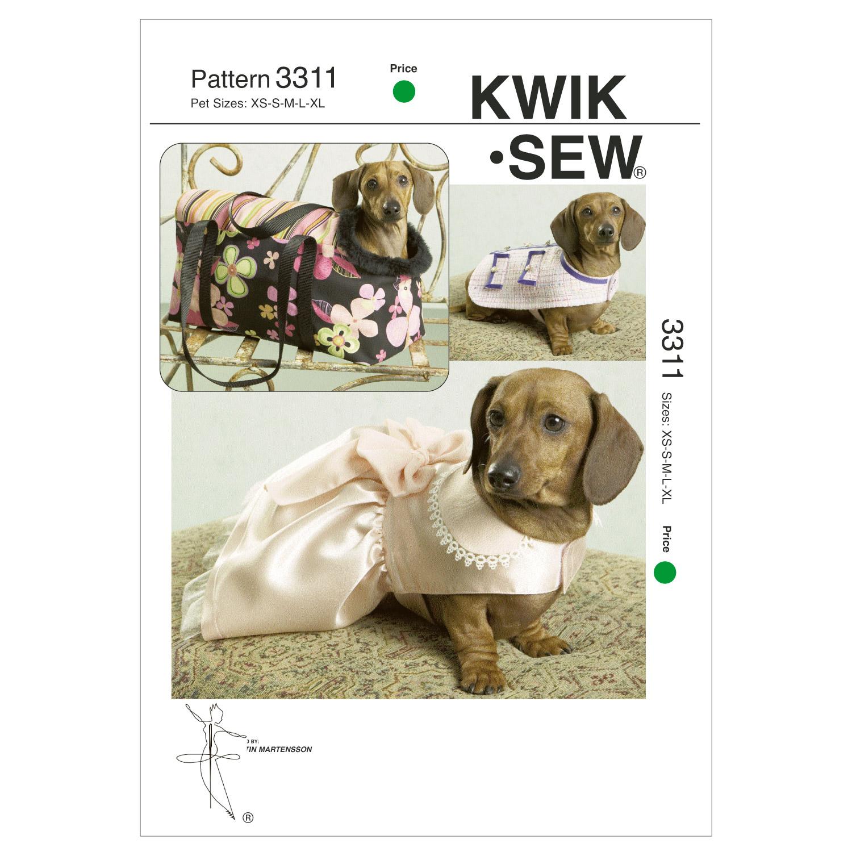 Pet Jacket, Dress and Carrier-XS-S-M-L-XL Pattern