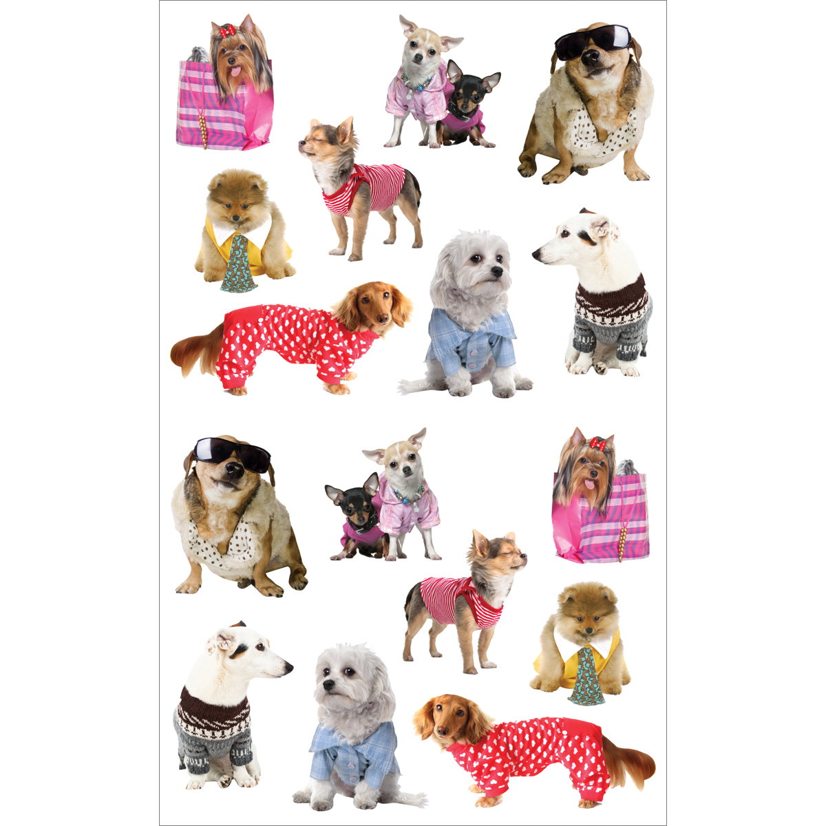 Mrs. Grossman's Stickers Pampered Dogs