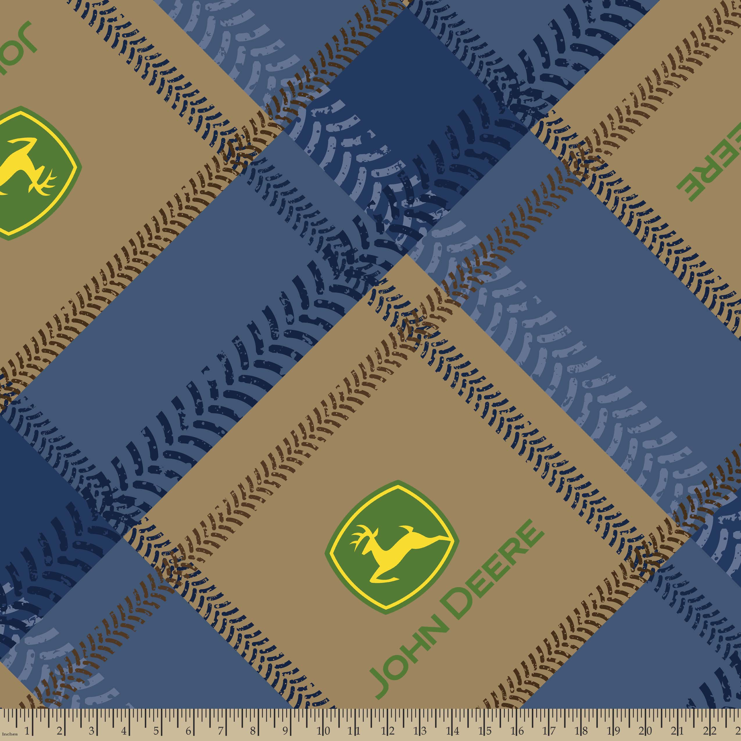 John Deere House : John deere tractor plaid fleece fabric