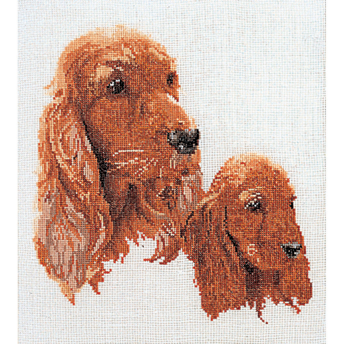 Thea Gouverneur counted-cross-stitch Kit Spaniels On Aida
